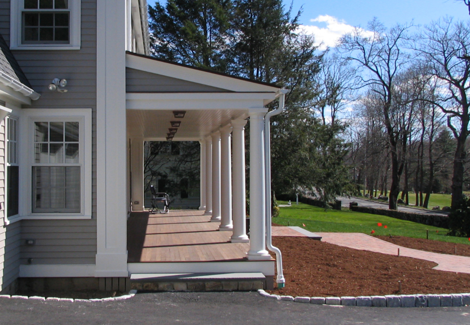 Federal Front Porch Addition, side view