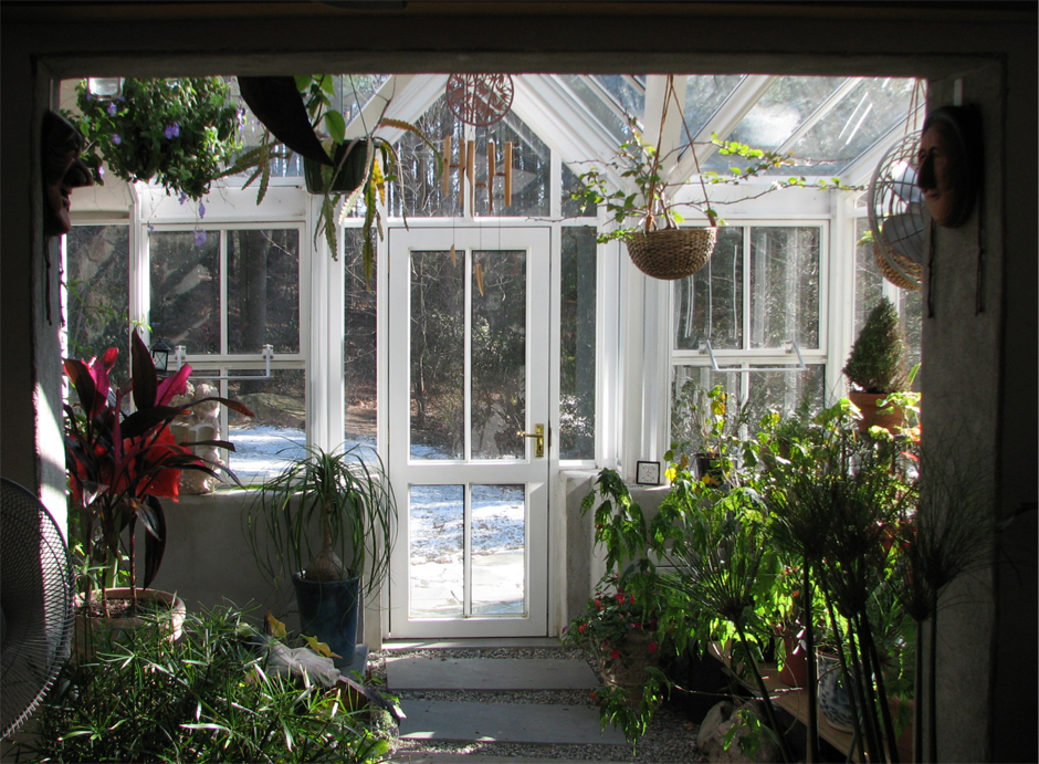 Greenhouse interior view